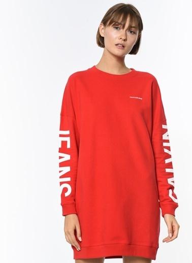 Calvin Klein Elbise Kırmızı